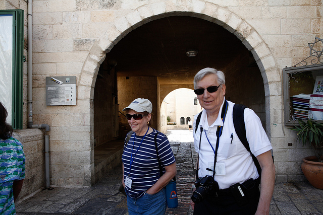 Karen and Steve Ostrove on the Journey to Israel trip.