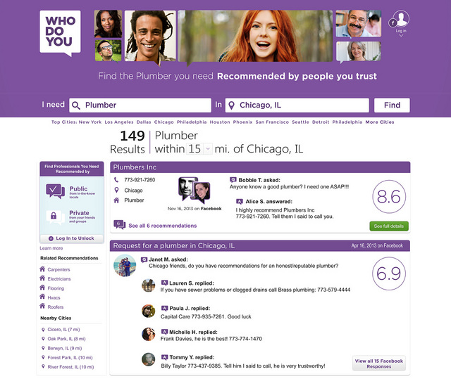 WhoDoYou results page.