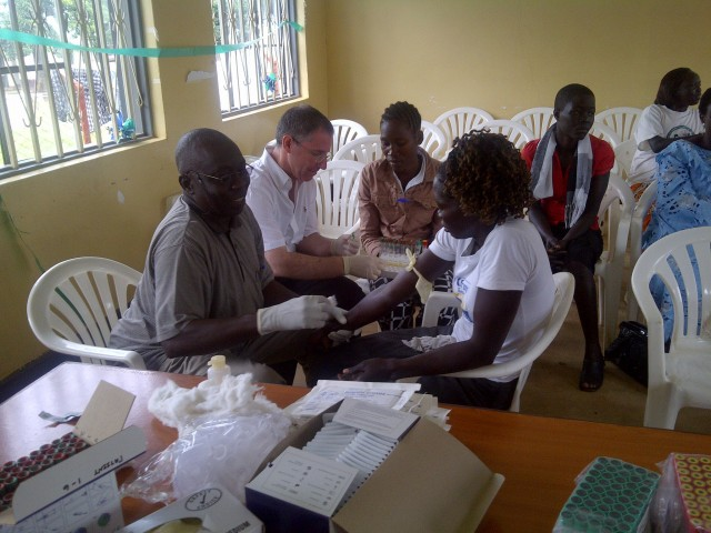 Dr. Lobel travels to Africa five times a year.