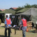 The IDF field hospital in Haiti in 2010.