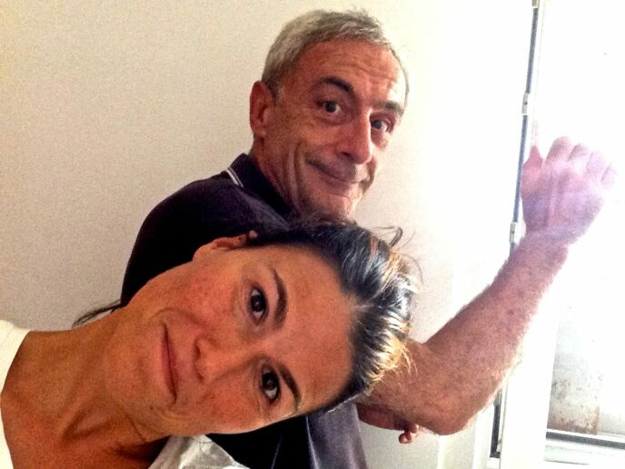 "Fabiana Magri and Massimo Lomonaco posted this picture from Ra'anana on the Facebook ""Bomb Shelter Selfies"" group."