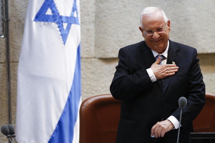 President Reuven Rivlin was sworn in as the 10th President of Israel on  July 24, 2014. (Photo by Yonatan Sindel/Flash90)