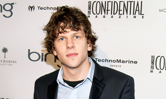 Jesse Eisenberg toured Israel for the first time.