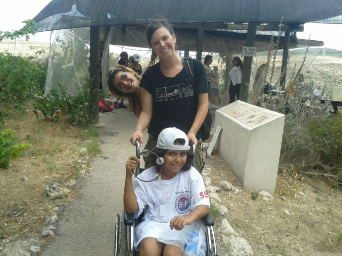LOTEM takes children with disabilities on hikes far from the conflict zone.