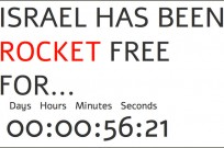 The countdown clock at Israelhasbeenrocketfree.com