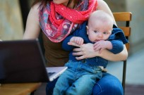 And baby helps business. Image via www.shutterstock.com
