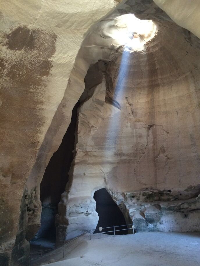 Archeologist Tsvika Tsuk took this shot of the Bell Cave in the morning.