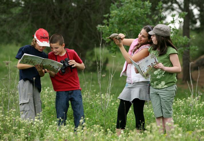 Kids love to hike in Israel. Photo by Moshe Shai/FLASH90