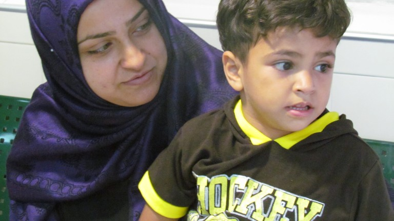 Marwan , a four-year-old from Gaza receives treatment at Wolfson Medical Center.
