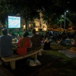 Israelis watch the World Cup semi final as rockets are fired from Gaza. Photo: Hadas Parush/Flash90