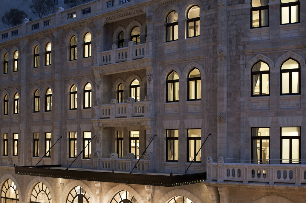 The Waldorf exterior. Photo courtesy of the Waldorf Astoria Jerusalem