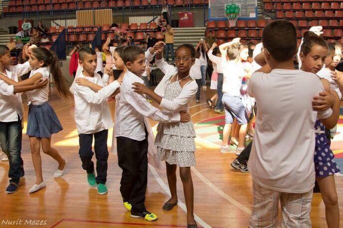 Miri Shahaf-Levi dancing with artistic director Dima.