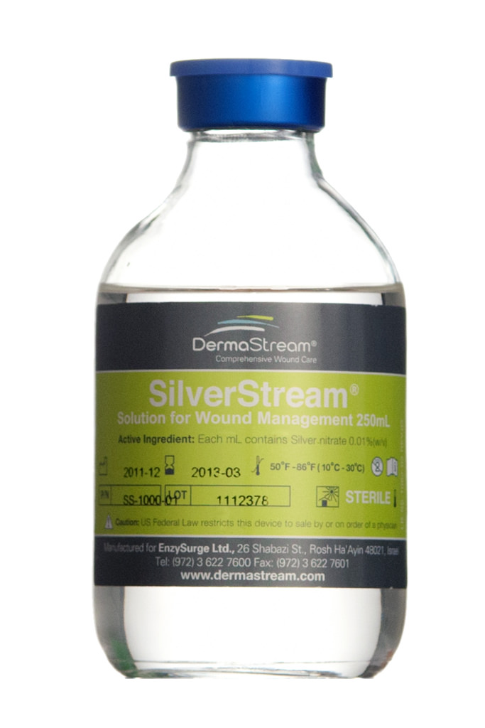 SilverStream for burn treatment.