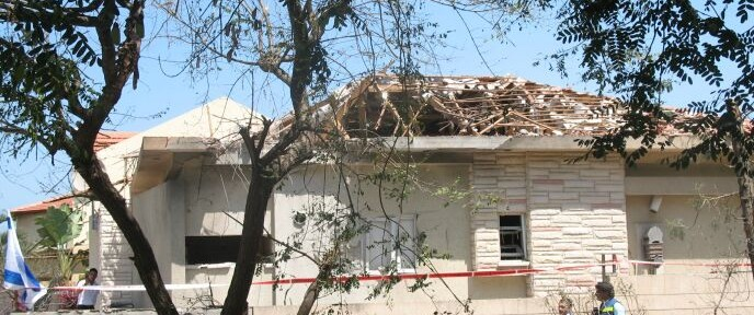 Orli Avior photographed the Cohen home in Ashkelon, which took a direct hit at 6:30am August 26.