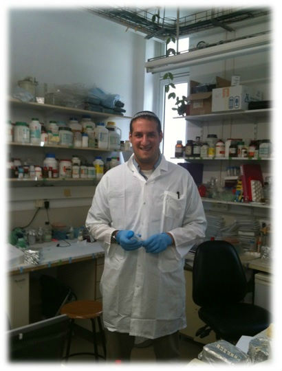Michael Brandwein in the lab.