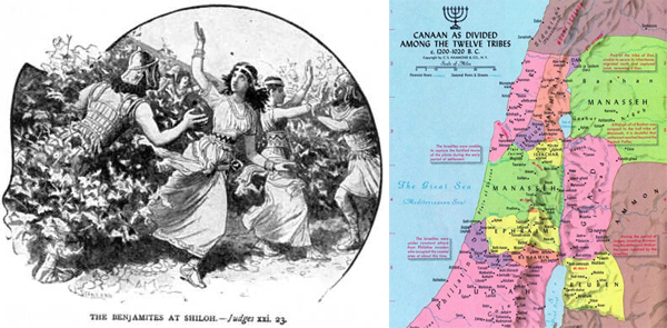 judges_21_23_benjamites_at_shiloh+tribes-of-israel-map