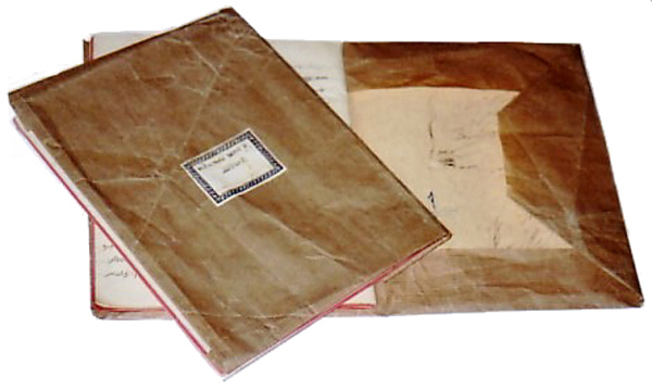 nostal-school-brown-paper-covered-books