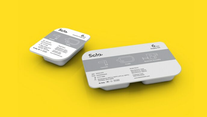 Medingo's Solo Insulin Delivery System. Photo courtesy of Frogdesign