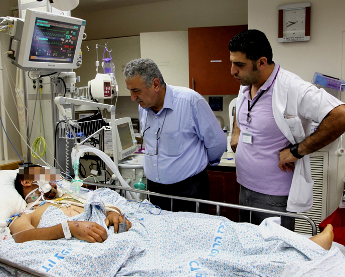 'Here, at the hospital we see who the real Israel is.'  - Dr. Al-Labwani (Ziv Medical Center)