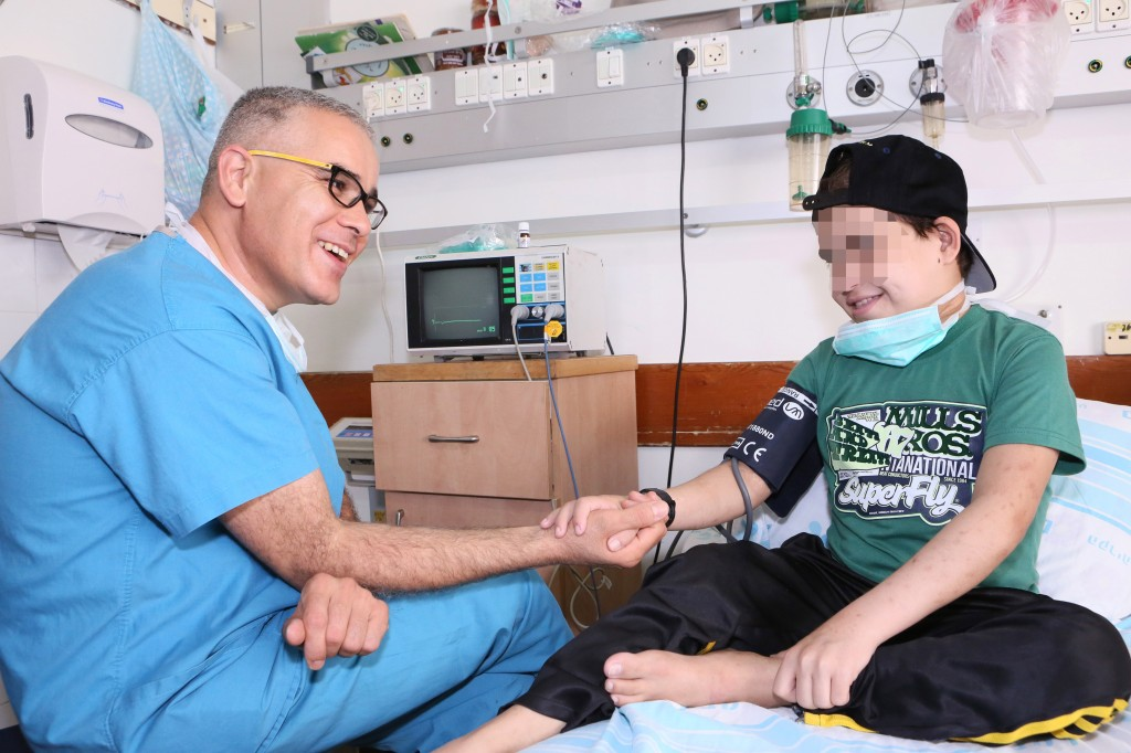 """M"" with Mahdi Tarabia, head nurse of pediatric nephrology at Rambam Health Care Campus in Haifa. Photo courtesy of RHCC"