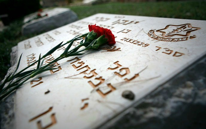 The grave of a fallen Israeli soldier from the 1973 Yom Kippur War, in the Mount Herzl military cemetery in Jerusalem. (Michal Fattal/Flash90)