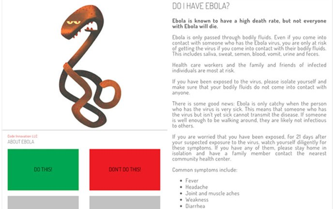 About Ebola app (Image from Google Play)