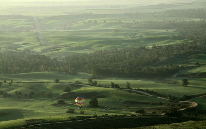 Hot air ballooning in Israel. Photo courtesy of Over Israel.
