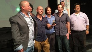 Breezometer celebrates its Startup Open win.
