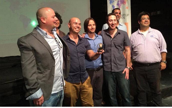 Breezometer celebrates its Startup Open win.