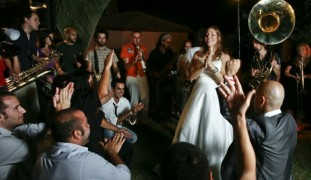 Filmmaker Laura Bialis included scenes from her Sderot wedding in Rock in the Red Zone