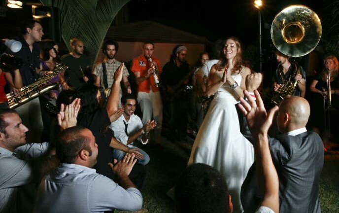 Filmmaker Laura Bialis included scenes from her Sderot wedding in Rock in the Red Zone