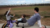 A family enjoys a visit to the Hiriya Landfill Restoration Project. Photo by Flash90.
