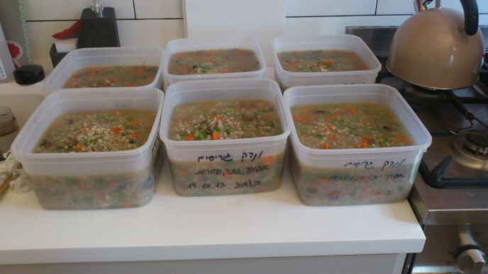 Volunteers provide homemade soup for Ben-Ami to deliver each week. Photo courtesy of the Good People Fund