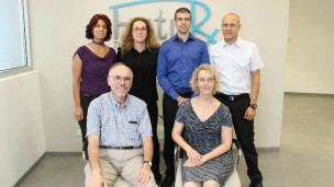The FutuRx team includes CTO Ronald Ellis and CEO Einat Zisman, front; and Sigal Arad, Limor Miara, Moshik Talbi and Eli Frydman.