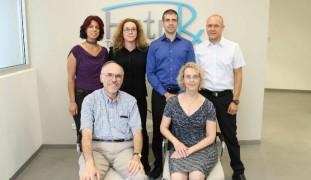The FutuRx team includes CTO Ronald Ellis and CEO Einat Zisman, front; and Sigal Arad, Limor Miara, Moshik Talbi and Eli Frydman.