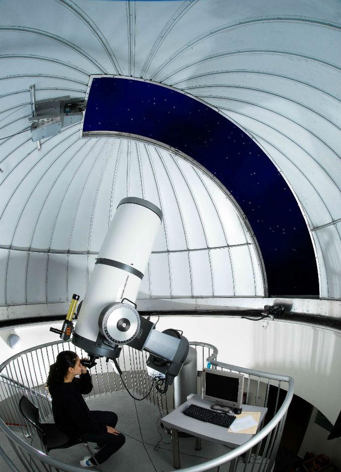 Star-gazing in Technoda's Harry Kay Observatory.