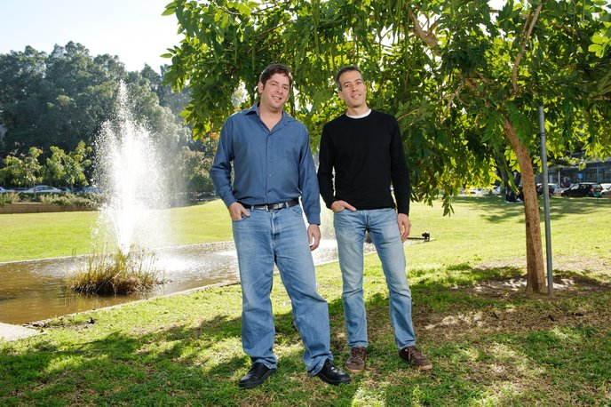 Dr. Eran Elinav, left, and Prof. Eran Segal. Photo courtesy Weizmann Institute.