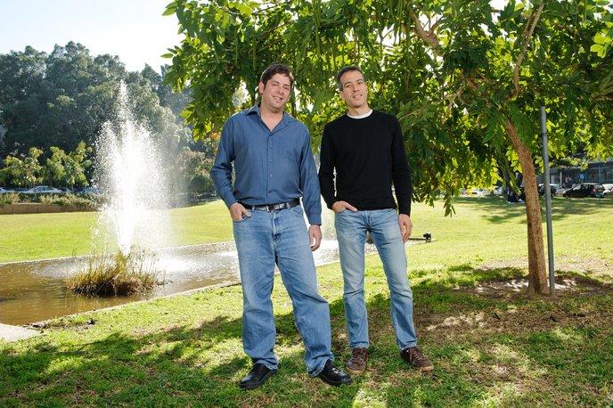 Dr. Eran Elinav, left, and Prof. Eran Segal. Photo courtesy Weizmann Institute.