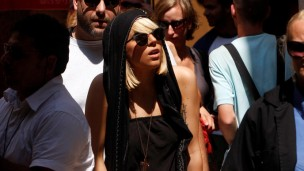 Lady Gaga on a previous visit to Israel in August 2009. Photo by Flash90.