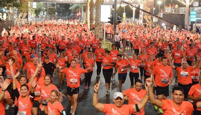 Night Run in Tel Aviv (Photo: Tel Aviv Municipality)