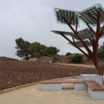 The eTree is a radiation-free, self-contained power station/seating area