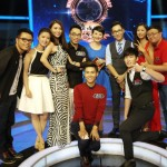 Lechao Tang, far left, with fellow contestants on Who's Still Standing. (Photo: China TV)