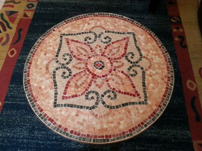 Mosaics are a relaxing hobby for Abramovitch.