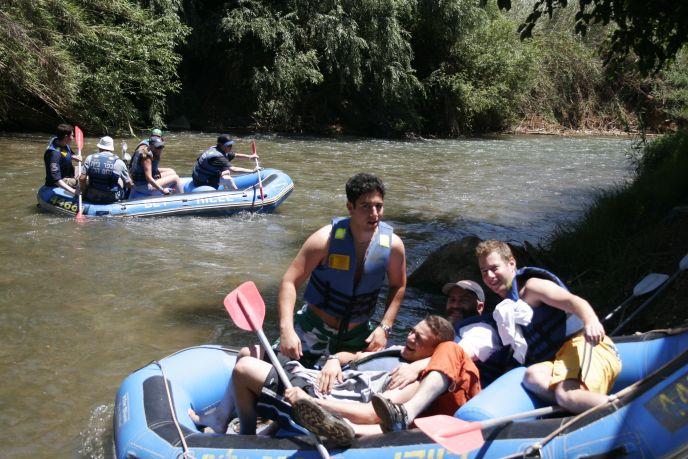 Jordan River rafting photo by Melanie Fidler/FLASH90
