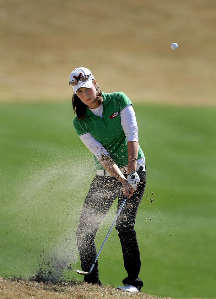 Laetitia Beck hitting a shot during the Annika Invitational in Florida, 2010. Photo by Tracy Wilcox/GOLFWEEK