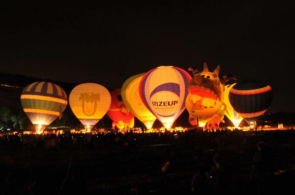 hot air balloon festival - gp balon - night glow 1