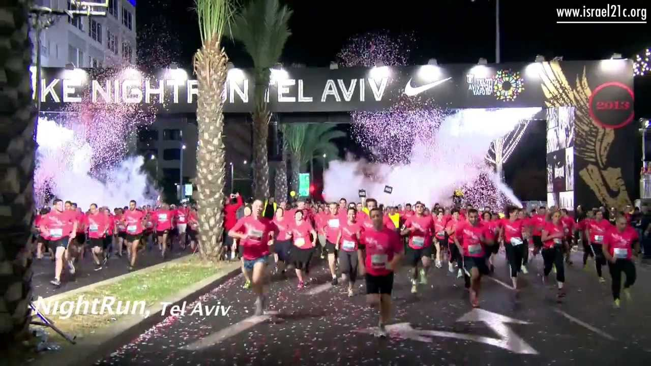 Night run in Tel Aviv