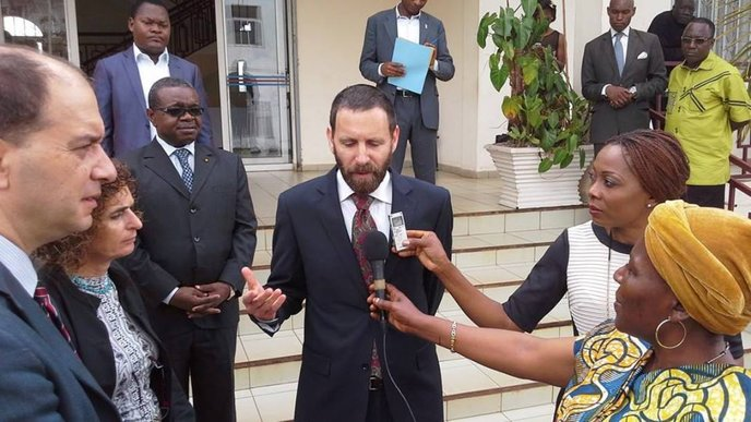 Dr. Roee Singer of Israel's Health Ministry was interviewed upon his arrival in Cameroon in September to provide preventive training in six hospitals. Photo courtesy MASHAV