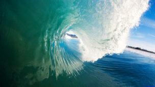 An ocean wave from a surfer's perspective. (Shutterstock.com)