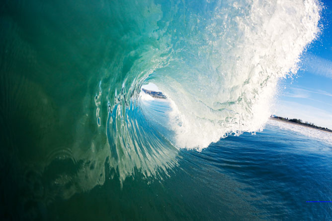 An ocean wave from a surfer's perspective. (Shutterstock.com)